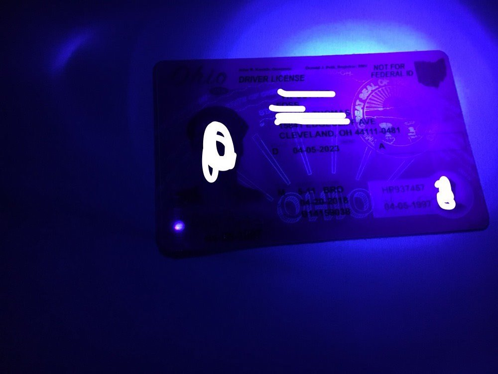ohio fake id uv