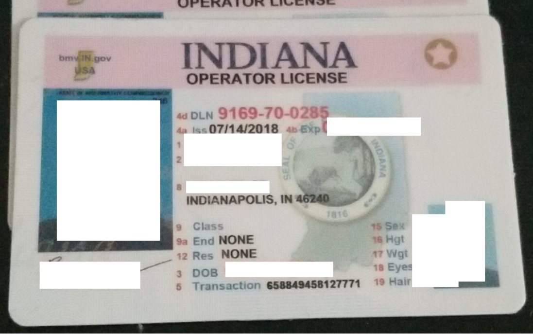 indiana fake id