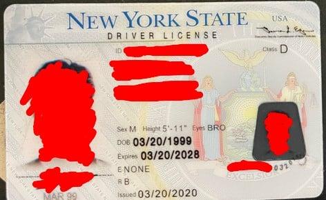 new york fake id sample